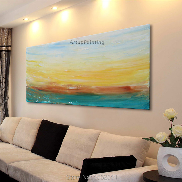 Aliexpress.com : Buy Dusk Seaside Acrylic Paint Home Decoration Oil ...