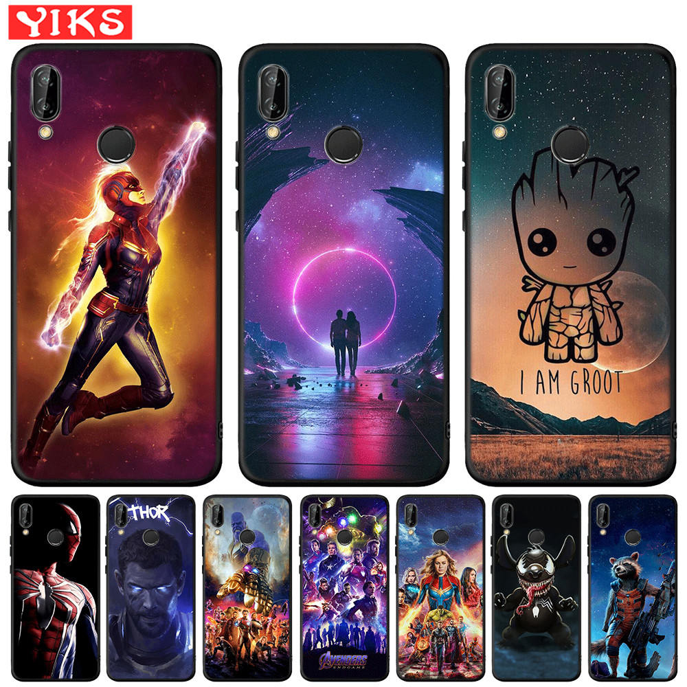Avengers Starry Sky Case For <font><b>Huawei</b></font> Mate 20 10 P30 P20 <font><b>P10</b></font> P9 P8 <font><b>Lite</b></font> Pro 2017 P Smart 2019 Black Silicone <font><b>Cover</b></font> Captian <font><b>Marvel</b></font> image