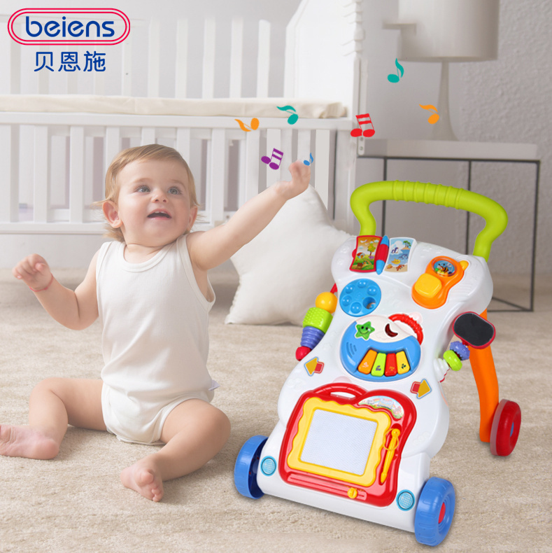цена на Beiens Brand Toys Learning Walker For Kids 9 Month Up Music Light Magnetic Drawing Board Toy Phone Mirror Educational Toy