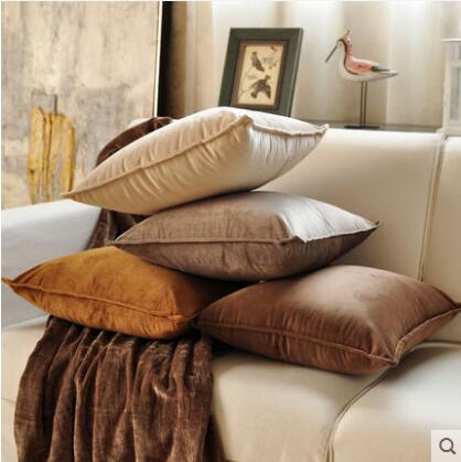 2017 New PASAYIONE Cushion Cover Solid Color Throw Pillow Cover Home Textile Plush Fabric Square Printed