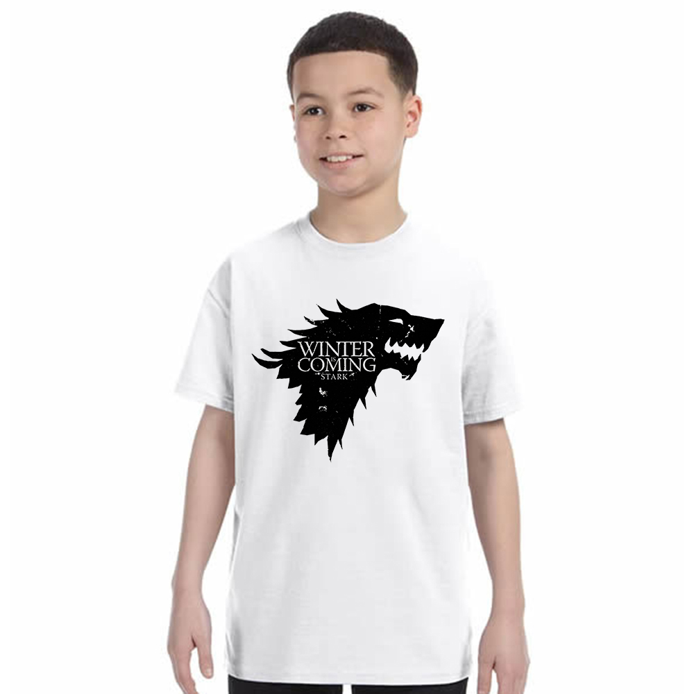 Kids T Shirt New Arrival Game of Throne Children T-shirt House Stark Winter Is Coming Letter Printed boys Tees O Neck TshirtKids T Shirt New Arrival Game of Throne Children T-shirt House Stark Winter Is Coming Letter Printed boys Tees O Neck Tshirt