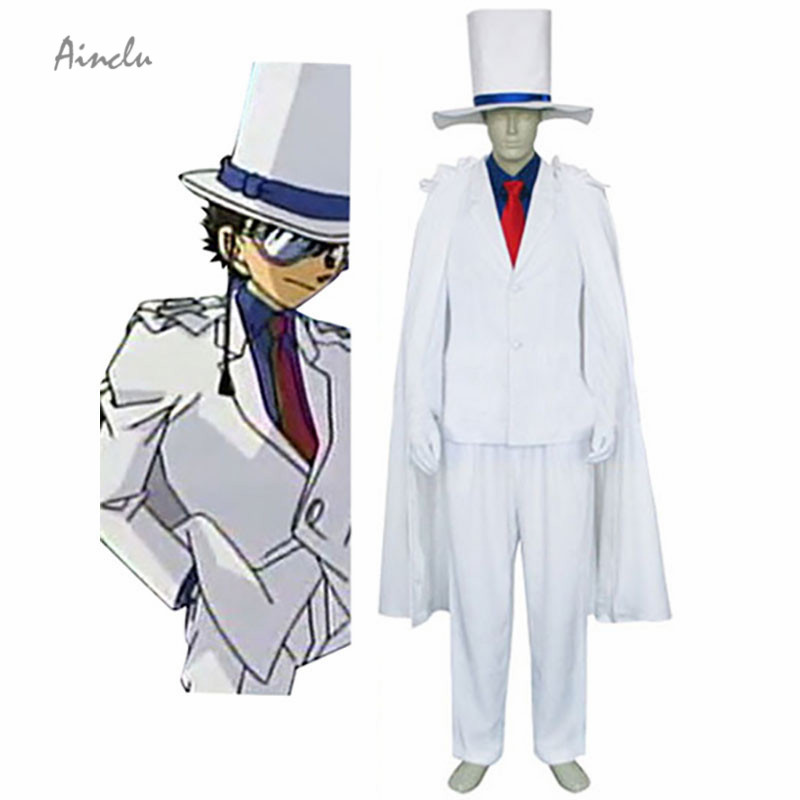 Ainclu Customize for adults and kids  Hot Detective Conan Kaito Costume Kid Halloween Cosplay Costume For Free Shipping