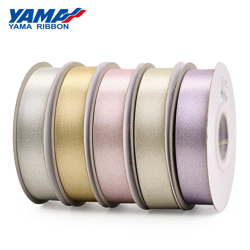 YAMA Silver Purl Satin Ribbon 6 9 13 16 mm 1 4 quot 3 8 quot 1 2 quot 5 8 quot inch 100Yards Party Wedding Decoration Handmade Rose Flowers in Ribbons from Home amp Garden