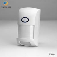 Беспроводной 433 МГц PIR датчик будильника , защищенный инфракрасный датчик движения инфракрасный детектор для домашней