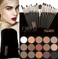 15 Color Concealer Palette Eye Make Up Brushes Teardrop Shaped Puff Makeup Contour Palette Paleta