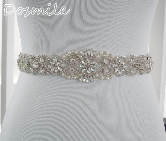 Handmade rhinestones appliques dazzle crystal stone wedding belts and sashes bridal belts for evening prom dress jewelry