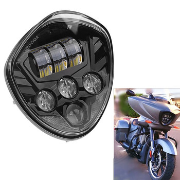 High-intensity Victory Motorcycle LED Headlight Black Chrome for 2010-2016 2015 2014 CROSS MODELS CRUISERS