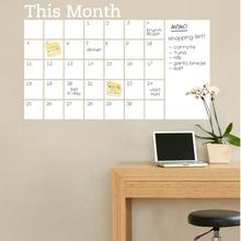 Text This Month Whiteboard Sticker Calendar Blackboard Wall