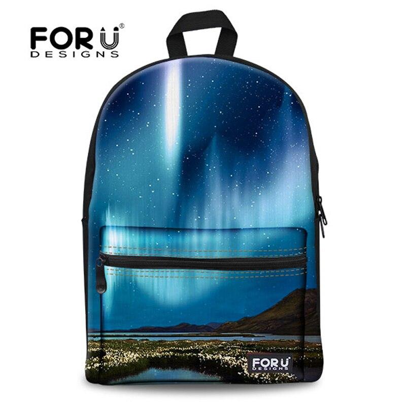 FORUDESIGNS Galaxy Printing Backpack for Teenage Girls,Universe Space Kids Canvas Backpacks,Women Back Pack Children Bookbags