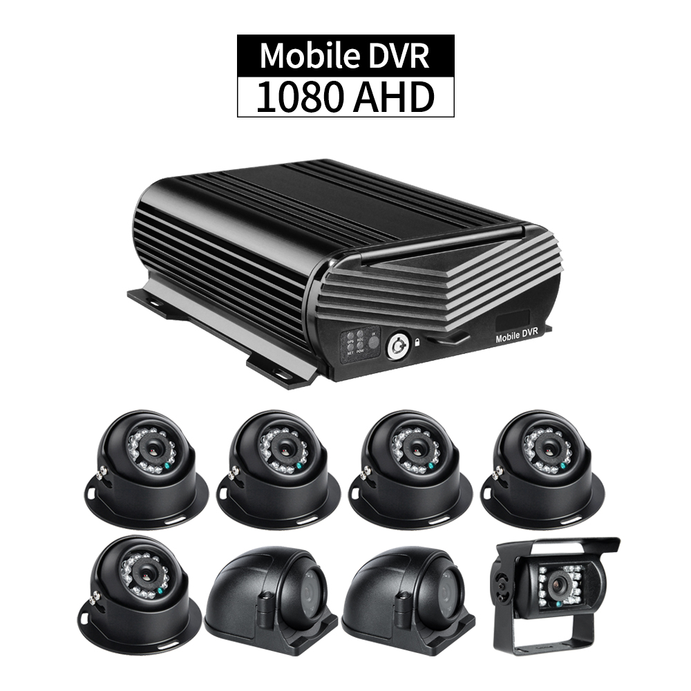8CH AHD 1080 Hard Disk Mobile DVR 8Pcs 2.0MP Vehicle Cameras Playback Delayed Shutdown G sensor for Semi truck Bus Surveillance|ahd 1080|cameras camera|dvr mobile - title=