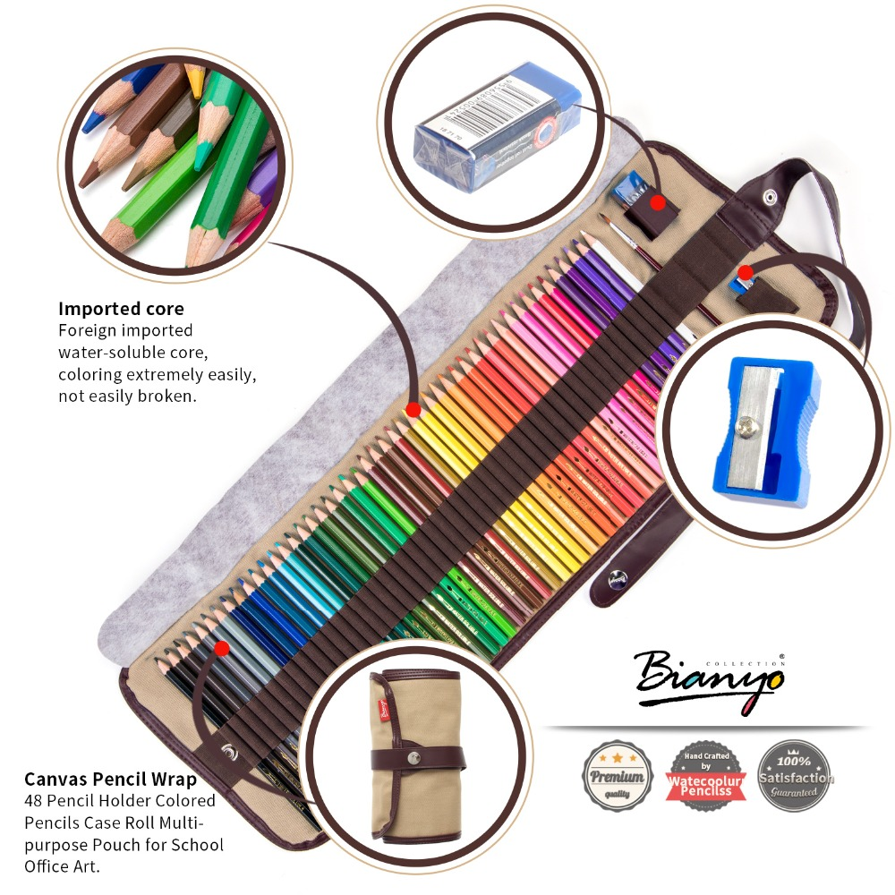 Bianyo 48Colors Wood Colored Pencils Set Lapis De Cor Artist Painting Water Color Pencil For School Drawing Sketch Art Supplies marco 12cb 2h 8b sketch pencils drawing sketching pencil set for school student sketch gift stationery art supplies lapis de cor