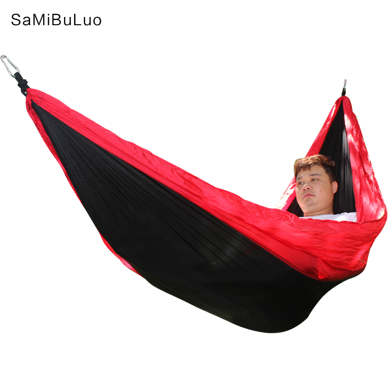 Double Camping Parachute Hammock With Tree Straps Adjustable Buckle Design-Easy Lightweight for Hiking Backpacking Beach цены