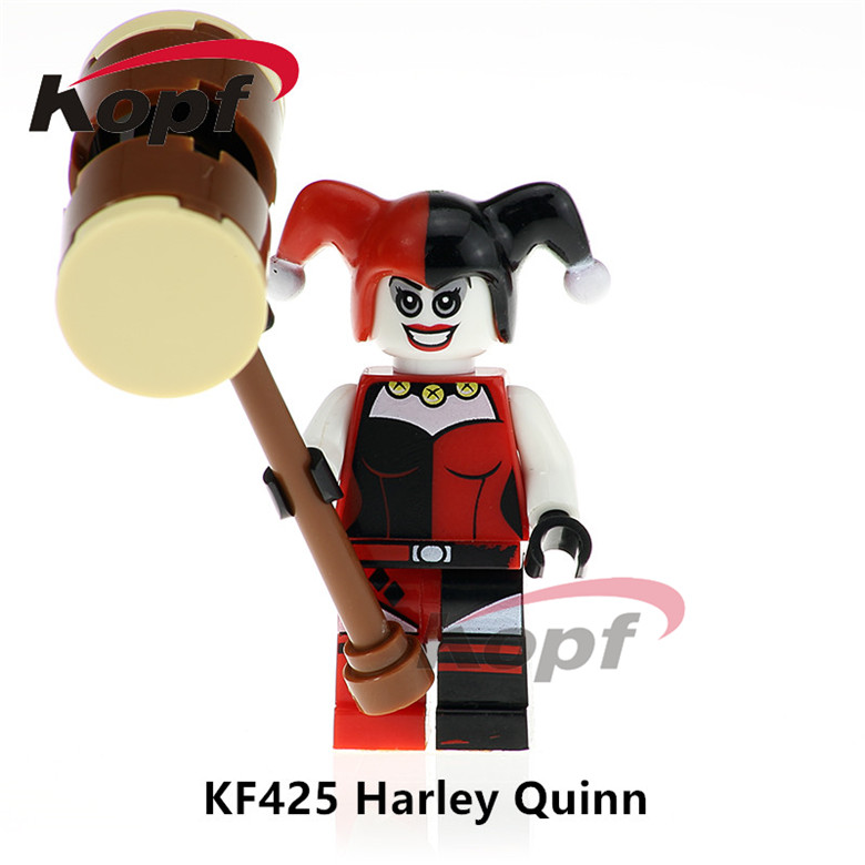 50Pcs KF425 Super Heroes Suicide Squad Harley Quinn Joker Flash Batman Dolls Bricks Building Blocks Education Toys for children