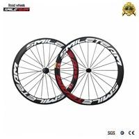 Smileteam Brand OEM Painting 700C 50mm Clincher Carbon Road Bike Wheels Racing Road Bicycle Wheelset With