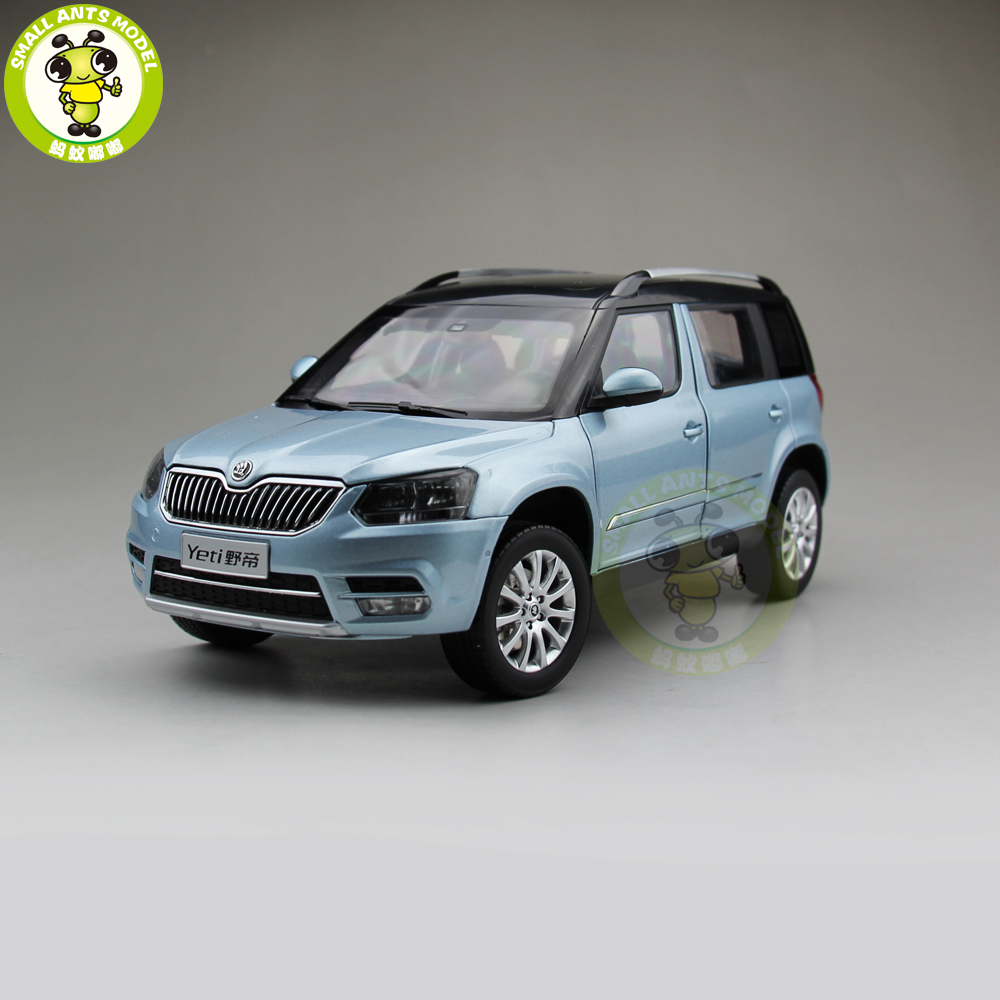 1/18 VW Volkswagen Skoda Yeti City SUV Diecast Metal SUV CAR MODEL gift hobby collection Blue maisto jeep wrangler rubicon fire engine 1 18 scale alloy model metal diecast car toys high quality collection kids toys gift