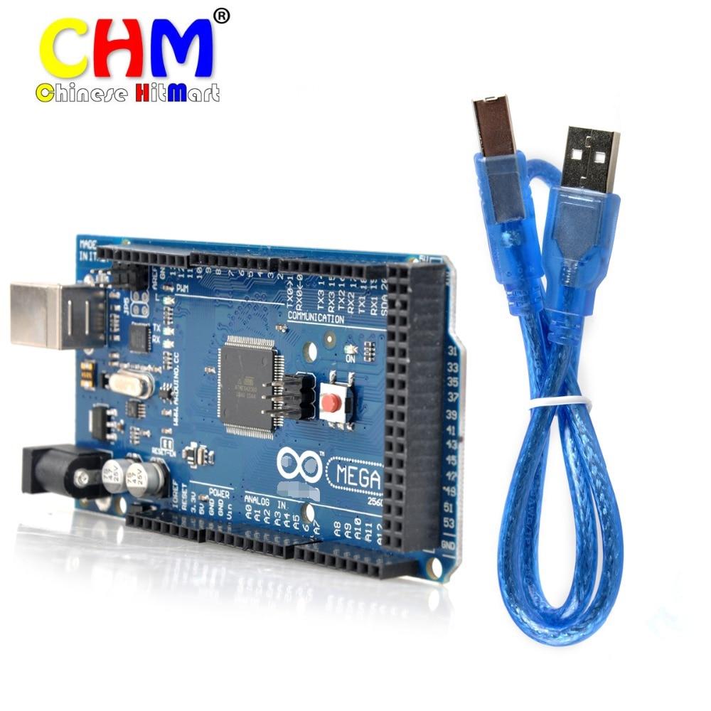 Mega 2560 R3 16AU Board+ USB Cable compatible(ATmega2560-16AU CH340G) for arduino#D003