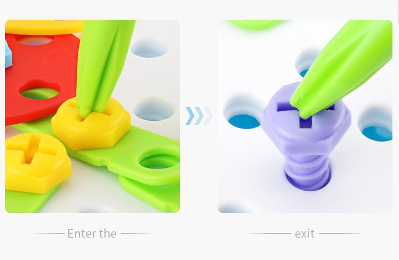 Crianças ferramenta de broca elétrica brinquedos parafusos