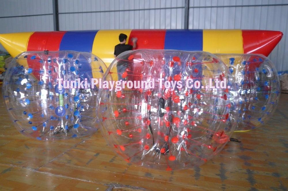 1 pcs 1.5m pvc red& clear,1.7m pvc ,1pcs of blower bubble soccer ball