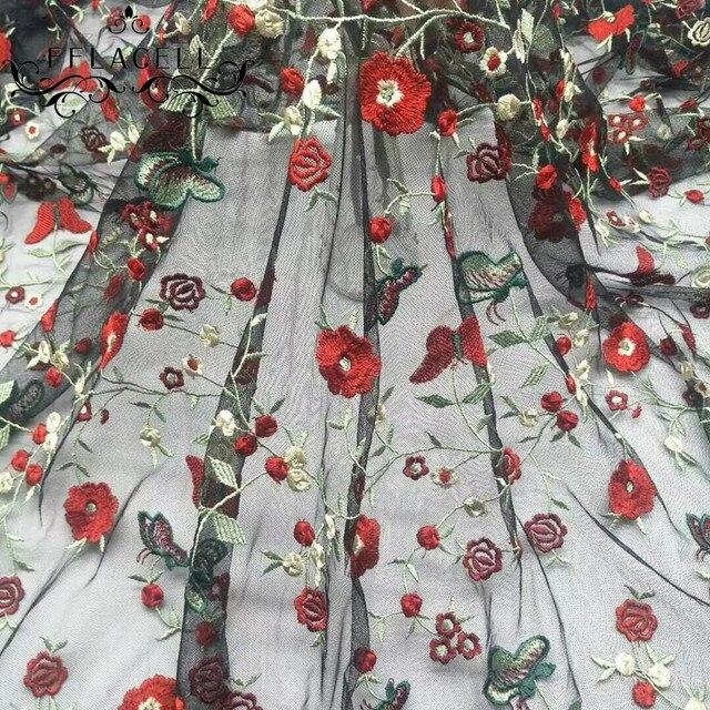 FFLACELL 1 Meter Elegante hochzeit/party kleid material ...