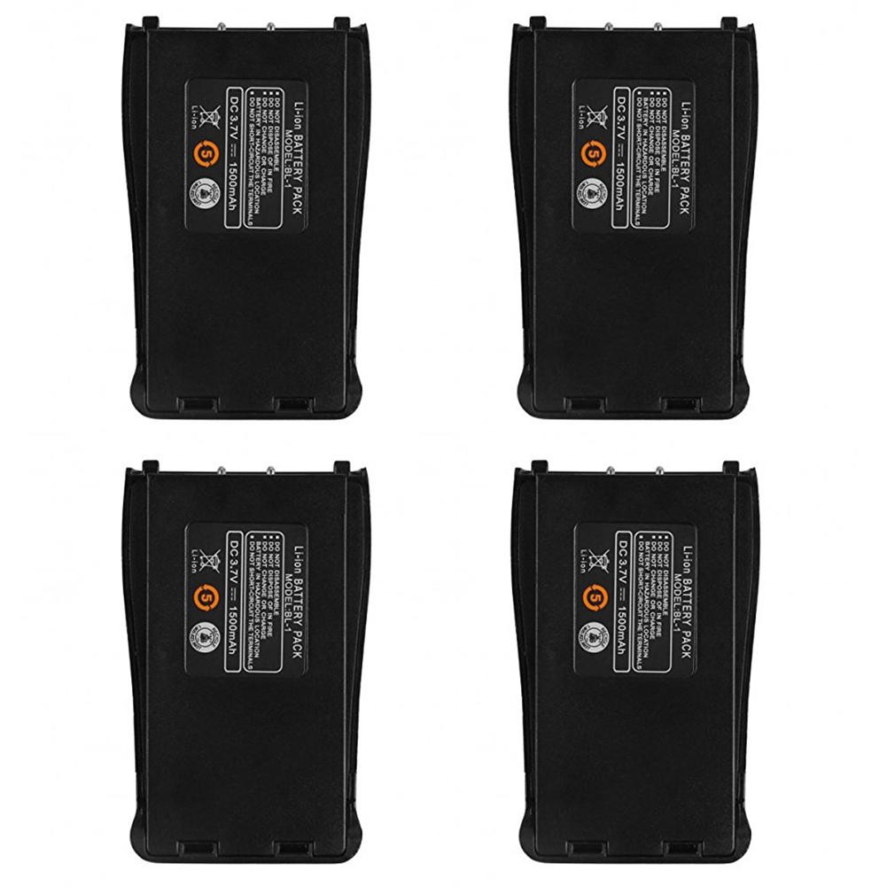 4Pcs Baofeng BF-888S 3.7V 1500mah Li-ion Spare Battery For Baofeng Bf-888S Retevis H-777 H777 Two Way Radio Walkie Talkie