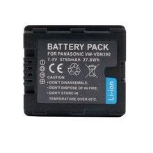 WHCYonline – batterie de caméra VW VBN390, 3750mAh, pour Panasonic,