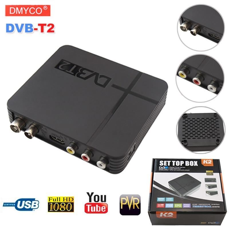 DVB-T2 digitale terrestre TV Satellitare ricevitore di segnale Decoder TV Box HD 1080 p PVR dvb t2 Mini Set Top Box vendita calda Russa