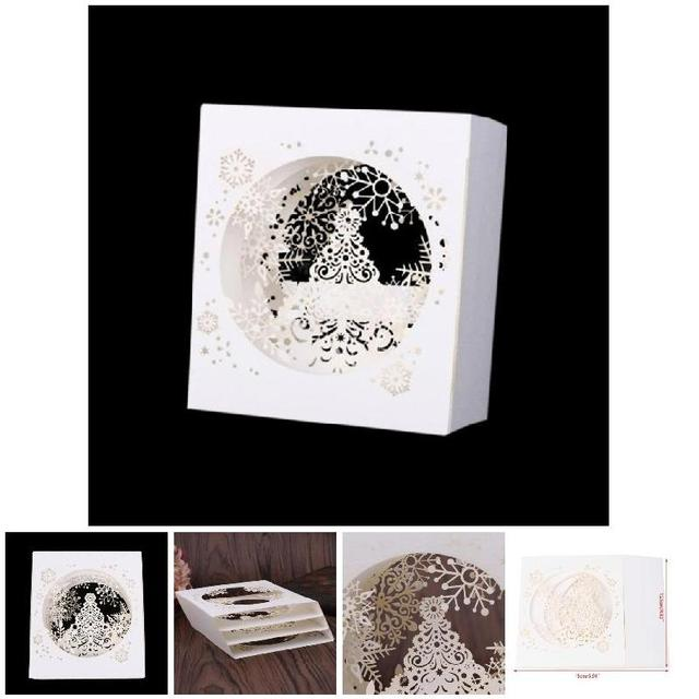Pop up tree box snowflake greeting cards merry christmas 3d handmade pop up tree box snowflake greeting cards merry christmas 3d handmade holiday card hg99 m4hsunfo
