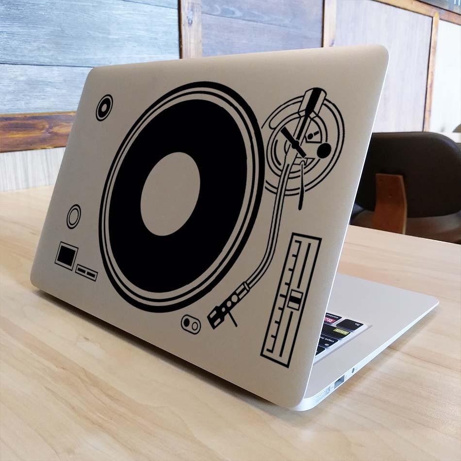 DJ Technics 갑판 레코드 플레이어 노트북 스티커 Macbook - 노트북 액세서리