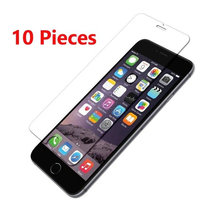 10 шт./компл. Защитное стекло для iPhone 6 6S 7 8 Plus X защитная пленка для iPhone 5 5S 5C SE glass 9H Взрывозащищенная пленка
