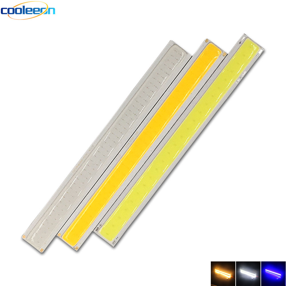 14CM COB LED Light Strip 4W COB Chip 12V DC LED Lamp Warm Cool White Blue Emitting Color  For Car DRL Decor Lights Signal Bulbs