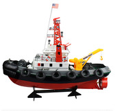Original Large Size RC fire boat Toys for children Educational Outdoor play sprinkler water jet gift radio remote control