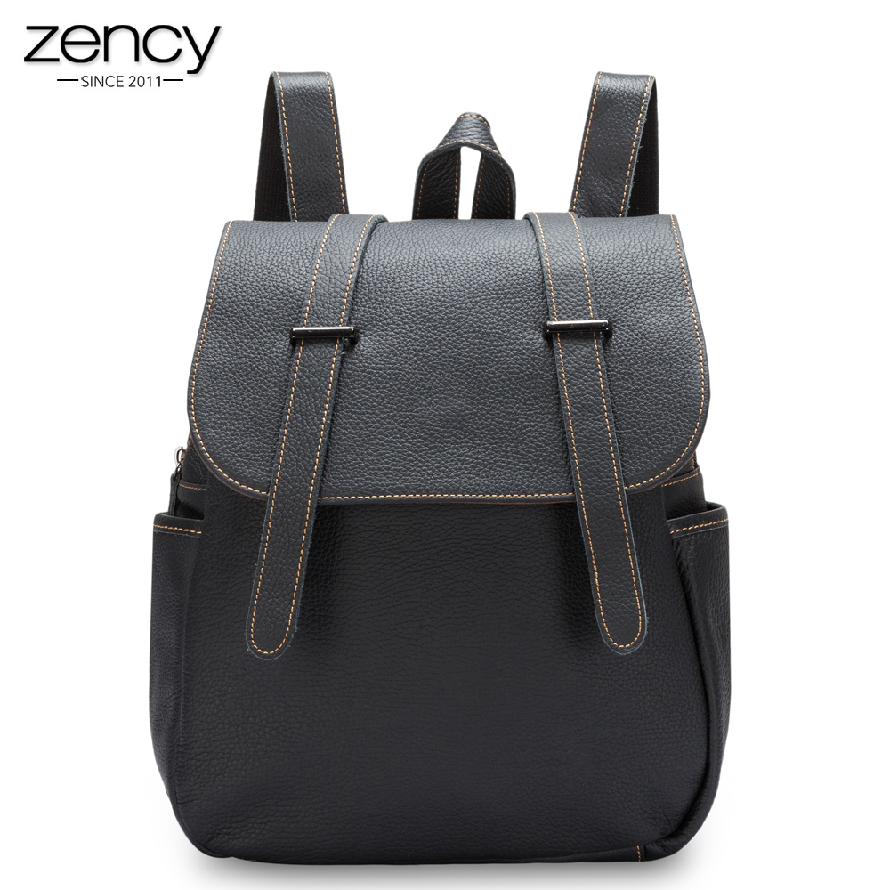 New Spring Genuine leather backpack for female Women fashion Classic Solid Shoulder bags High Capacity Large Girls daily purses