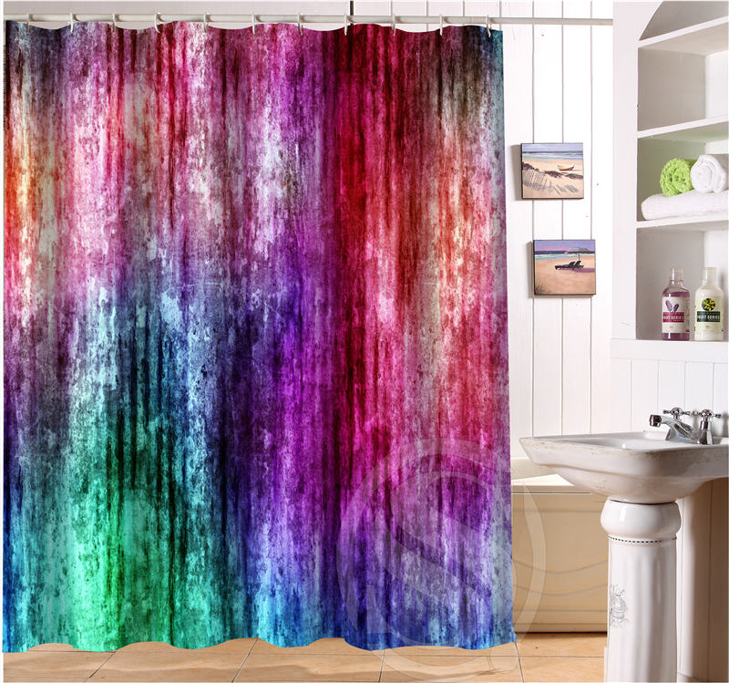 Colored Fluorescent Color Decorative Pattern Custom Shower Curtain Bath  Curtain Waterproof Eco Friendly Shower Curtain Ring In Shower Curtains From  Home ...