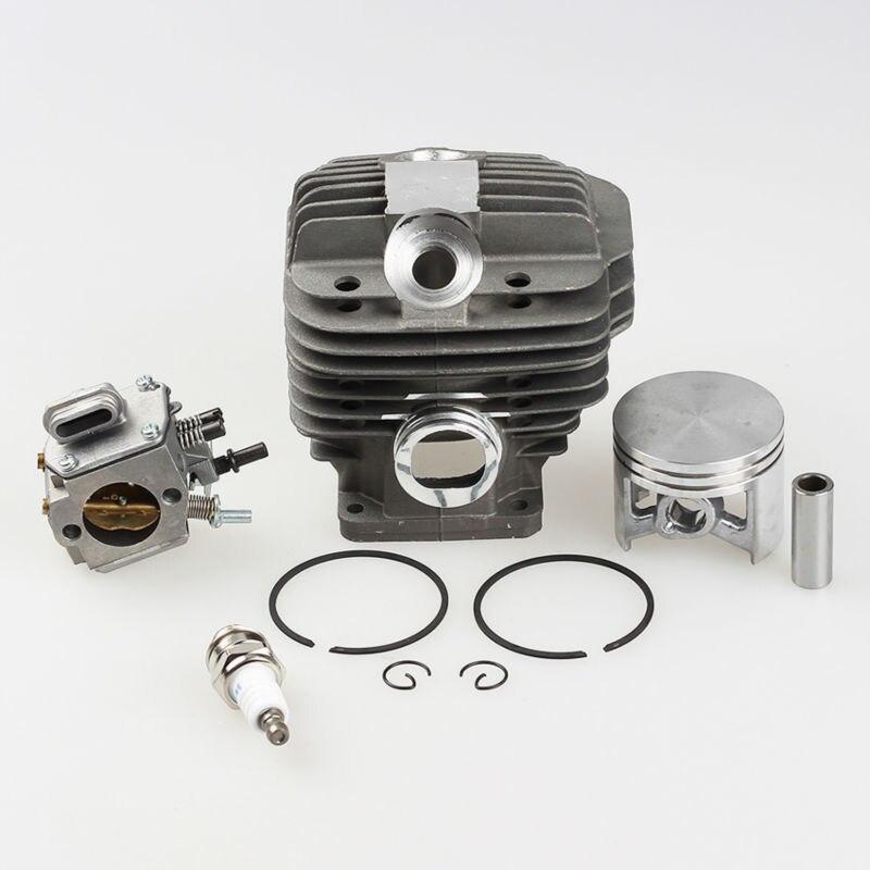 Cilindro Kit de Pistón + Carburador Carb + bujía para MS 440 Piezas de la Motosierra Stihl 044 MS440 * 1128-020-1201