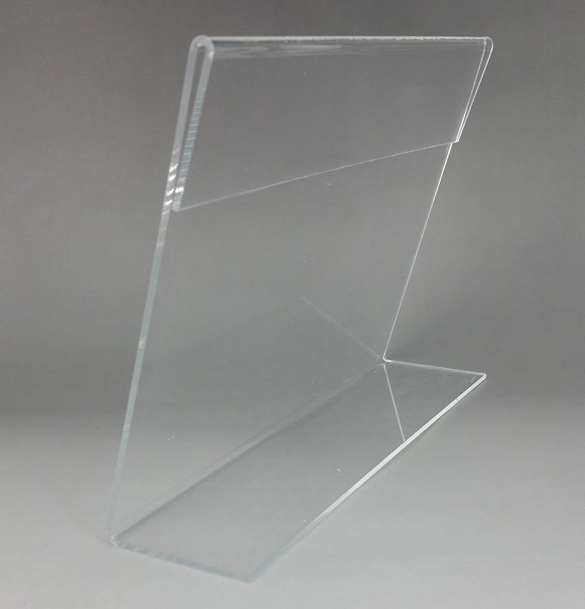 Transparent 15x10cm Plastic Acrylic Sign Display Paper