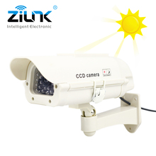 Solar Power Fake Dummy Camera Bullet Waterproof Outdoor Security Camera Indoor Simulated Surveillance CCTV Camera Wholesale
