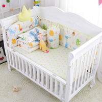 7Pcs/Set Cot Bed Linens With Quilt Pillow Bed Sheet Washable Baby Bedding Set Newborns Boys Girls Crib Protector Bumpers Quality