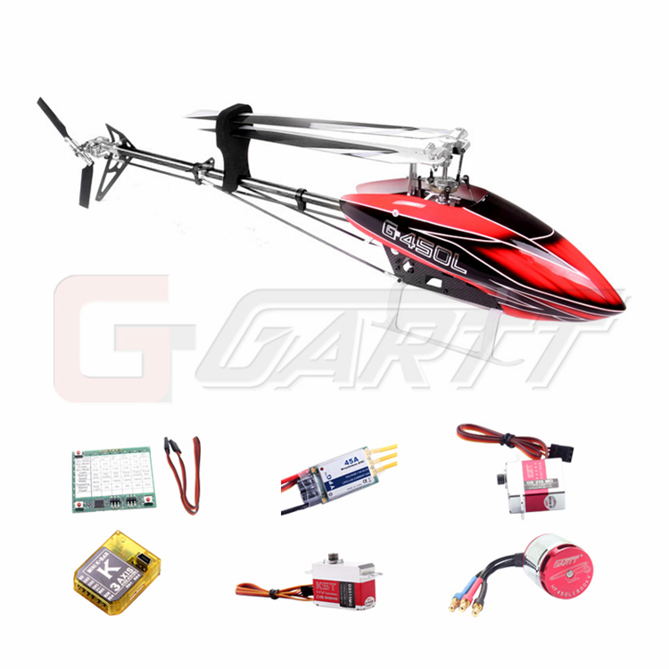 Ormino Gartt 450L DFC TT Version 2.4GHz 6CH RC Remote Contorl Helicopter Combo цена