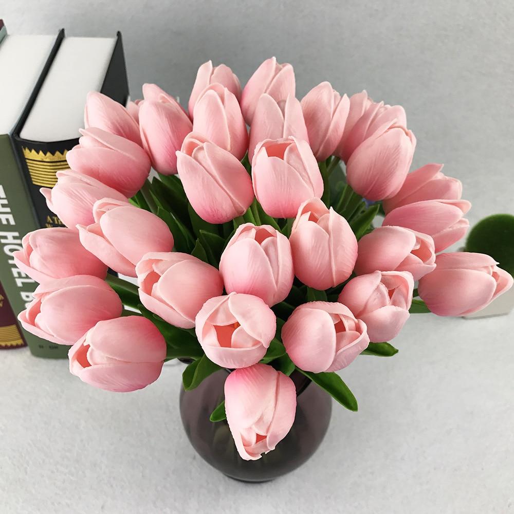 Тюльпан ПУ Поддельные искусственного шелка тюльпаны artificiales букеты Party искусственные цветы для дома Свадебные Декоративные цветы 1 шт.