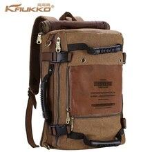 KAUKKO Canvas multi-function Men  Travel  backpack rucksack  women shoulder luggage bag