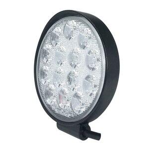 Image 4 - Car Light 4 Inch Rounded 4200LM Led 12V 24V Work Light Bar Driving Pods Spot Beam Work Lamp for Off Road Suv Car Work Lights