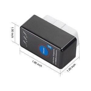 Image 5 - Escáner de fallos OBD ii para coche OBD, OBD2 ELM327 V1.5 On PIC18F25K80 Super Bluetooth con CD, escáner de fallos automático, lector de código, herramientas de escaneo, interruptor ELM 327 eml