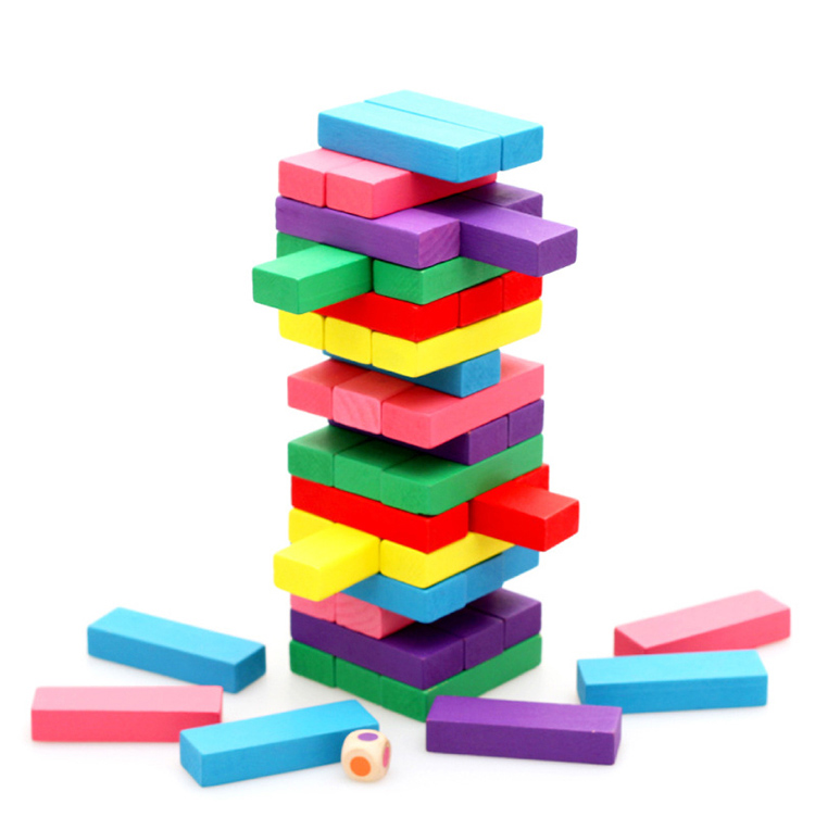 Wooden Multifunction Tower Wood Building Blocks Toy Domino Stacker Extract Building Educational Game Montessori Gift five in one uniting chess wood multifunction checkers backgammon exercise children thinking family board game kids birthday gift