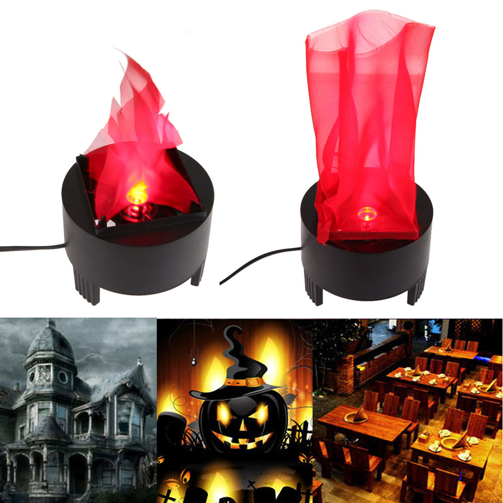 Led hanging artificial fake flame lamp torch light fire for Hanging fire bowl