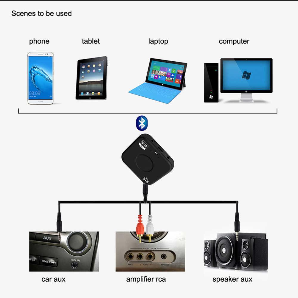 KEBIDU B7 Plug Wireless Bluetooth 4 2 Receiver aptX LL Low Latency Dual  port Audio NFC music adapter For Laptop phone car