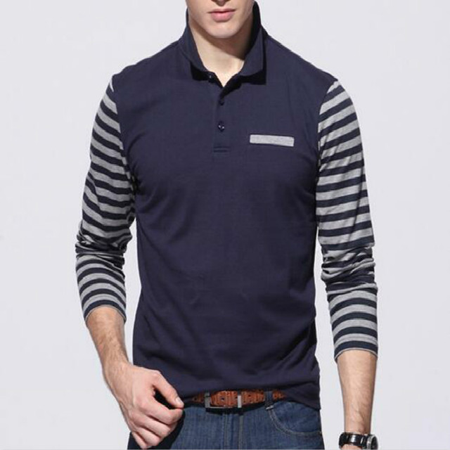 Fashion Mens Long Sleeve Polo Shirt Slim Fit Shirt for Men's Clothing Tops & Tees Polo Men Polo 2016