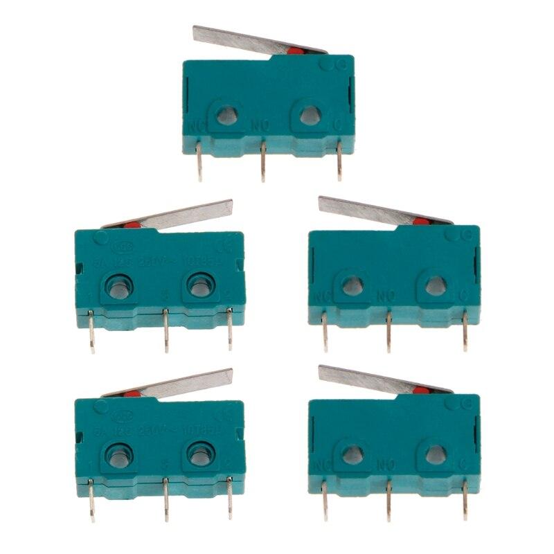 5Pcs Travel Switch Limit Switch 3 Pin N/O N/C 5A 250V Micro Switch KW4-3Z-3 3D Printer Accessories