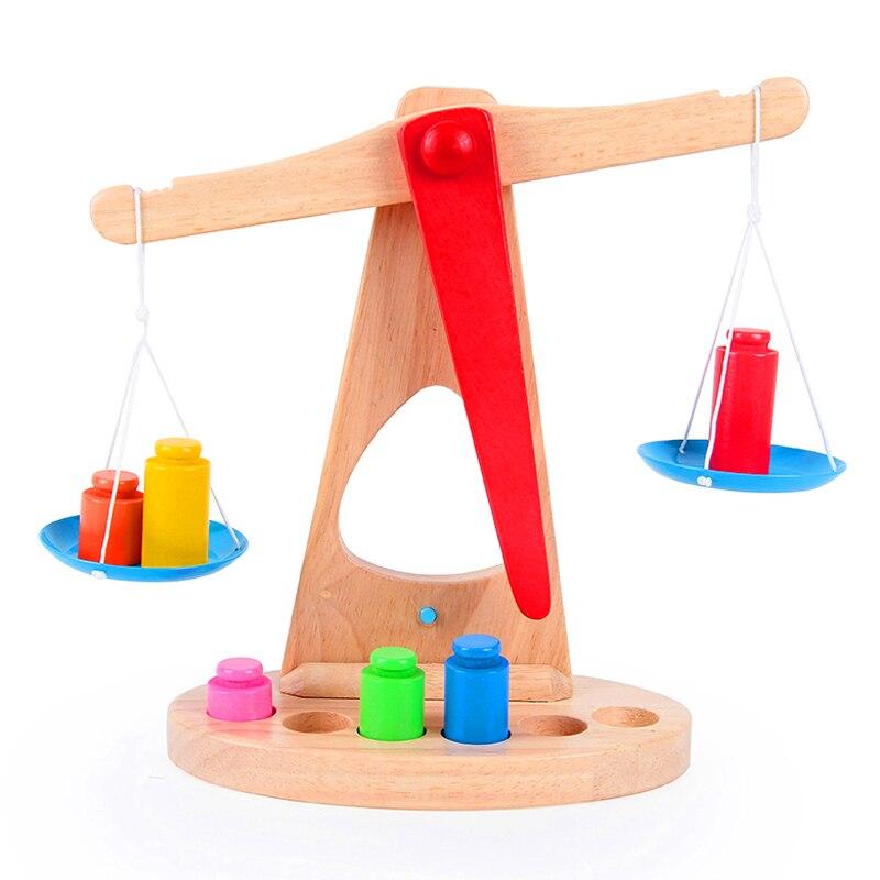 Игрушек! Горячая Монтессори Развивающие деревянные игрушечные весы забавная игрушка Баланс игра ребенок раннего развития подарок на день рождения 1 шт