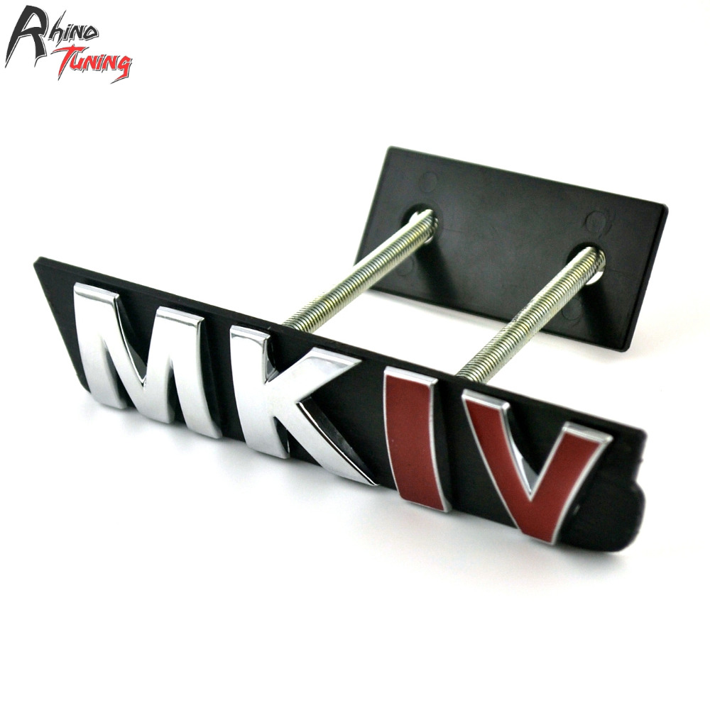 Rhino Tuning MKIV Car Front Grille Grill Emblem Badge Auto Styling For Golf 4 MK4 MKIV Tiguan Sticker 20689 metal red st front grille sticker car head grill emblem badge chrome sticker for ford fiesta focus mondeo auto car styling