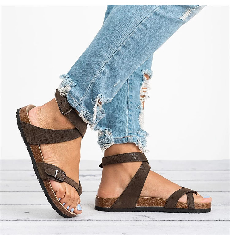 HTB1b2uYbfvsK1Rjy0Fiq6zwtXXa8 Basic Women Sandals 2019 New Women Summer Sandals Plus Size 43 Leather Flat Sandals Female Flip Flop Casual Beach Shoes Ladies